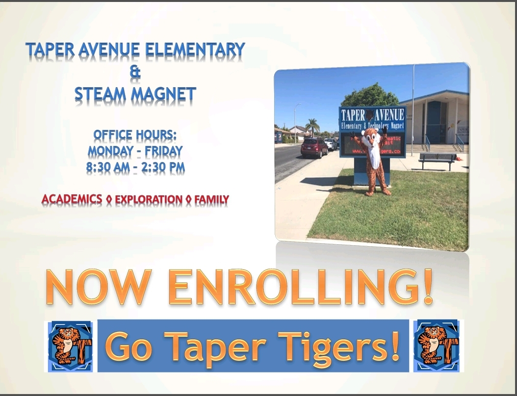Taper Now Enrolling