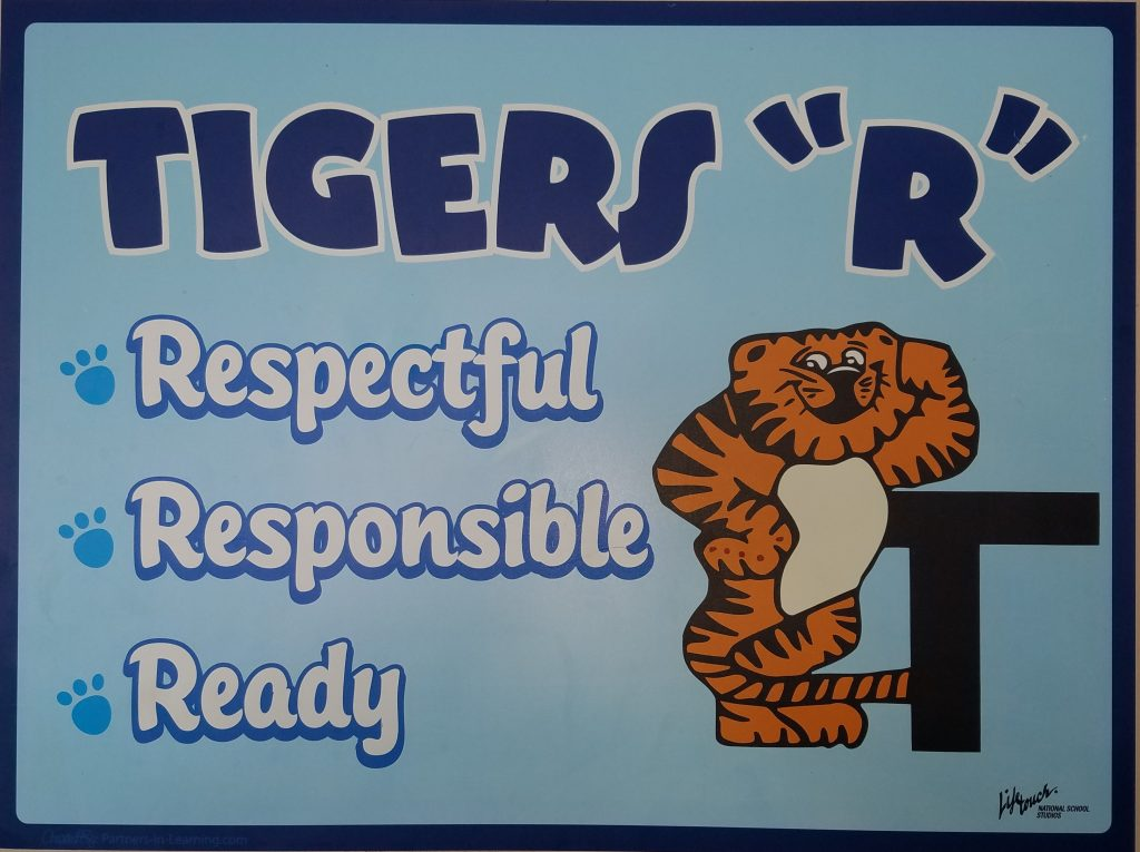 "Tigers ""R"" Respectful, Responsible, & Ready"