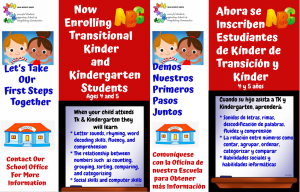 Kinder and TK Enrollment Ages 4 and 5