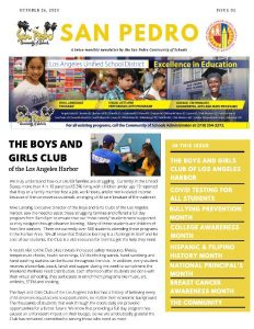 San Pedro Community of Schools Newsletter October 26th