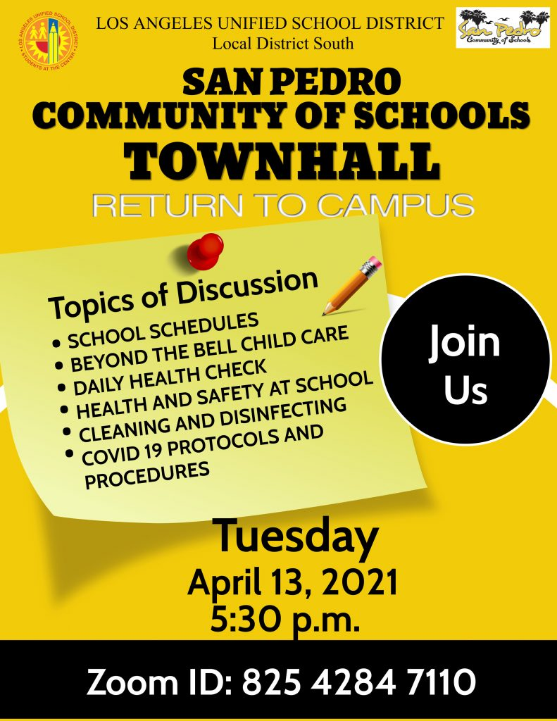 Townhall Meetings April 13th